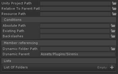 Folder Path Attribute for Unity with Odin Inspector