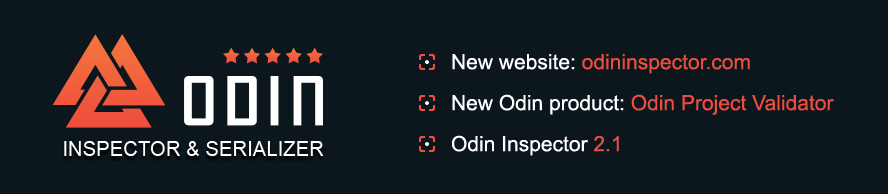 Patch Notes | Odin Inspector for Unity